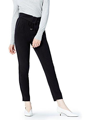 FIND Pantalone a Sigaretta Donna Nero (Black)