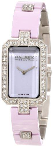 Haurex Italy Miroir - Reloj analógico de mujer de cuarzo con correa de acero inoxidable plateada