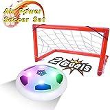 PUZ Toy Regalos para Niños 5-7 Años Hover Futbol Portería Set Juguetes de Niños Partidos de Fútbol Luces de Colores LED