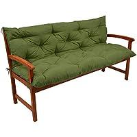 Beautissu Flair BR - Colchón, Respaldo, cojín de Bancos de jardín, terraza o balcón - 150x50x50 cm - Verde