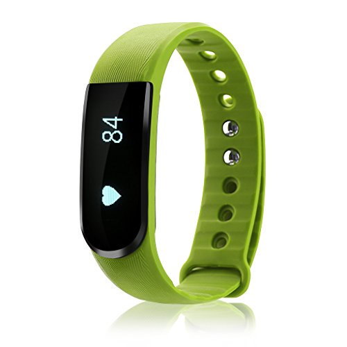 iMusi Bracelet Connecté Tracker d'activité Avec Fonction Stop-Watch Smartwatch bluetooth 4.0 - Vert