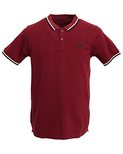 Harrington, Polo Uomo, Rosso (Bordeaux), Small