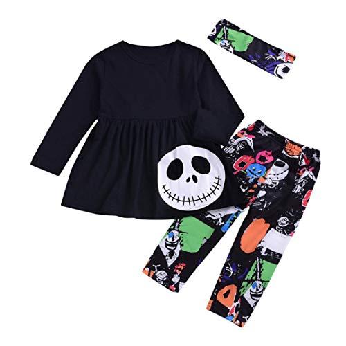 nt Baby Mädchen Jungen Brief Strampler Hosen Halloween Kostüm Outfits Set Moginp (120, Weiß) ()