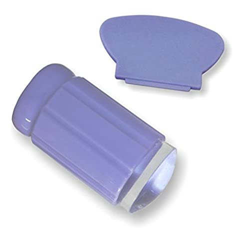 Nail Art Manucure Tampon Stamping - LATH.PIN Ouitil de Nail Art Manucure Tampon Stamping avec Grattoir Vernis Ongle Image Silicone Stamper Violet