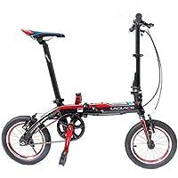 ShopSquare64 Laplace L412 Bicicleta Plegable de 14 Pulgadas Mini Bicicleta Plegable V Bicicleta de Aleaciã³n de