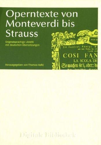 Operntexte von Monteverdi bis Strauss (PC+MAC)