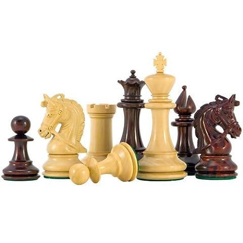 Corinthien Rouge De Luxe Bois De Santal Pièces D'échecs