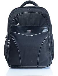FLYIT Unisex Boys Girls Backpack Polyester Back Bag with Trendy Design Book Bags, Color- Shine Black