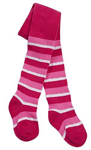 Tick Tock Baby-Strumpfhose für Mädchen, buntes Design, mit hohem Baumwollanteil Gr. 6-12 Monate, Hot Pink Stripe (Sparkle Mädchen Strumpfhosen)
