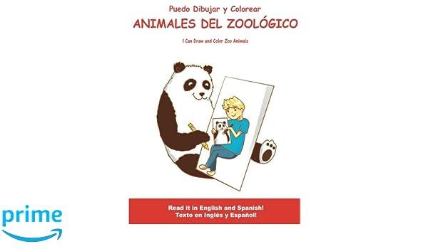 Amazon.fr - Puedo Dibujar Y Colorear Animales Del Zoologico: I Can ...