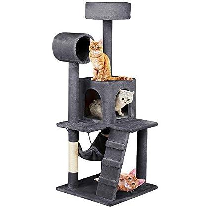 Yaheetech Árbol para Gatos Rascador con Plataforma Rascador Sisal Escalador para Gatos 50cm x 50cm x 133cm
