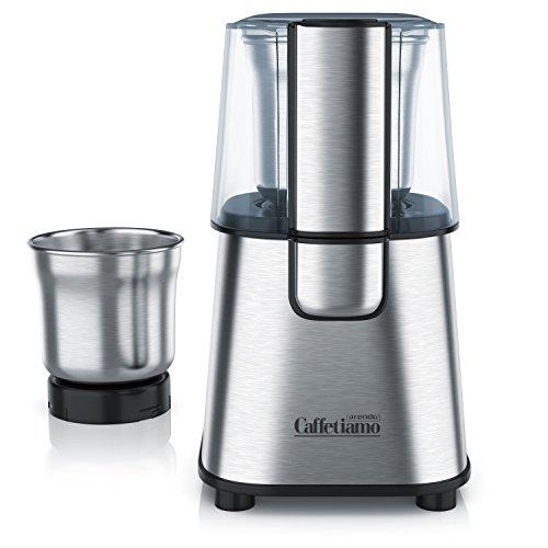 Arendo - Schlagmesser Kaffeemühle/Edelstahl Küchenmaschine Caffetiamo | 2-fach und 4-fach Messereinsatz | robustes Edelstahl-Schlagmesser | 220W | integrierte Sicherheitsschaltung