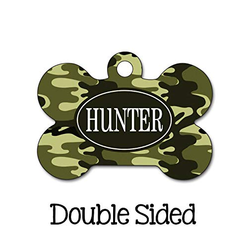 Burkeroan Camouflage Dog Tag Camo Dog Tag Personalized Dog Tag Chic Pet ID Tag Double Side Name Tag Personalized Pet Tag Custom Dog Tag Dog Tag (Dog Name Tag-camo)