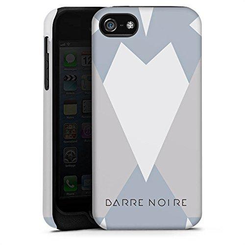 Apple iPhone X Silikon Hülle Case Schutzhülle Dreiecke Muster BARRE NOIRE Tough Case matt