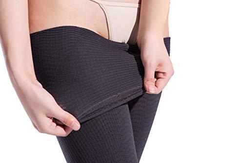 LIANNI AS Damen Strumpfhose, sexy, Shaping, Nylon, durchgehend, mit Fuß - Grau - Einheitsgröße (Hoch Größe Socken Plus Knie)