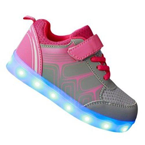 [Presente:piccolo asciugamano]JUNGLEST® Unisex High Top LED lampeggiante scarpe da ginnasti c15