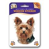 Yorkshire Terrier Car Stickers x 2, Autoaufkleber, 2 Stück - Doppelseitige Aufkleber für Autoscheiben, Hausfenster oder Kühlschrank.