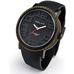 Relax Batterie Armbanduhr Analog? Schwarz Herren