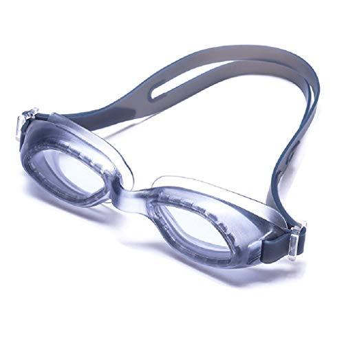 ZTMN Schwimmbrille Wasserdicht und Anti-Fog-Schwimmbrille Freizeit professionelle Brille weibliche High-Definition-Box transparente Brille Männer (Farbe: grau)