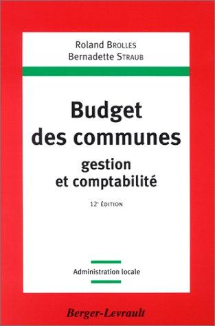 Budget des communes, gestion et comptabilité