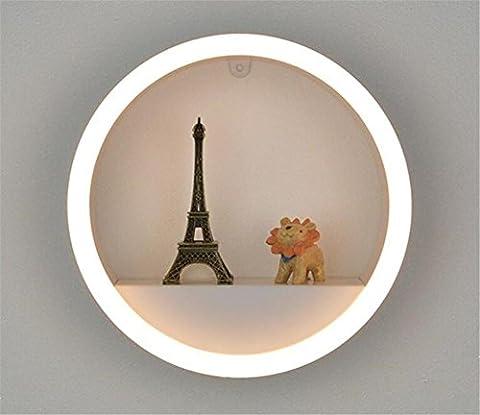 Applique Murale Simple grille en fer forgé lampe chambre salon TV mur étudier lampe de mur de LED ,
