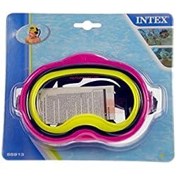 INTEX 55913, Masque Mixte Enfant, Vert/Jaune, 20.63x 22.86x 8,25