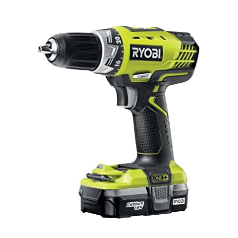 Ryobi RCD18021L ONE+ Two Speed Drill Driver with 1 x 1.3 Ah Lithium Battery and 45 Minute Charger, 18 V