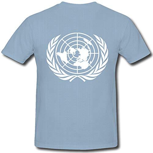 United Nation Vereinte Nationen UNO World War Ii League of Nations Who Wfp - T Shirt #284, Farbe:Hellblau, Größe:Herren XXL