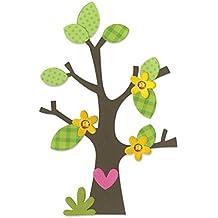 Fustella fustelle Bigz Albero alberi fiori fiore foglie rami ramo cuore 660404 Big Shot Sizzix per feltro pelle lamina tessuto cartoncino gomma piuma