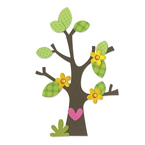 Fustella fustelle Bigz Albero alberi fiori fiore foglie rami ramo cuore 660404 Big Shot Sizzix per feltro pelle lamina tessuto cartoncino gomma piuma Ellison