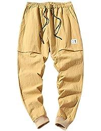 Pantalones De Color Puro De La Moda Masculina Pantalones Holgados De Lápiz Pies Pantalones Haren Ocasionales EláStico Hombre Corte Recto…