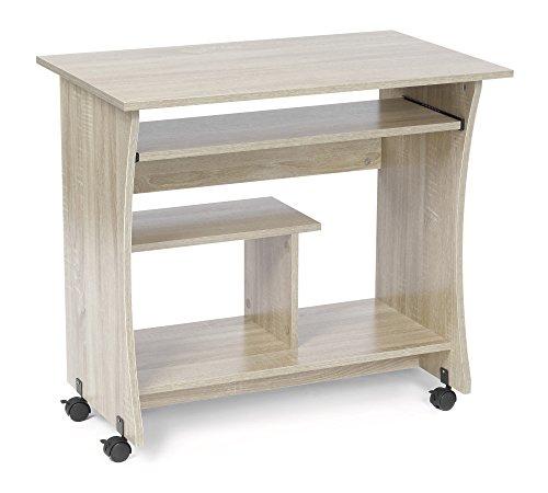 ts-ideen Computertisch Schreibtisch Arbeitstisch Büro PC-Tisch Computer Tisch Eiche