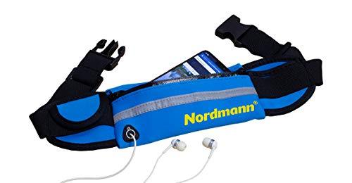 Nordmann® Bauchtasche aus Neopren, Farbe Blau, Spritzwasser-Schutz, Wasserwandern, Handy Schutz, Paddeln, Kajak Fahren, Kanu Fahren, Bauchgürtel, Laufgürtel