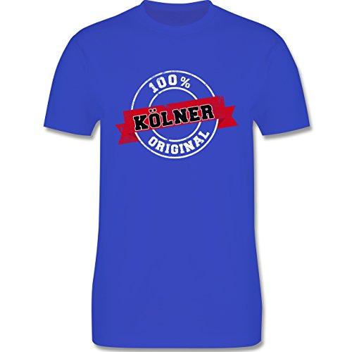 Städte - Kölner Original - Herren Premium T-Shirt Royalblau