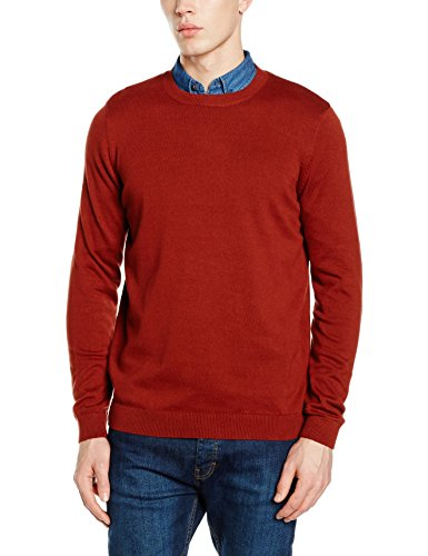 new-look-basic-cotton-crew-camisetas-para-hombre-teja-l