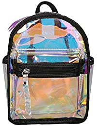 Luckycat Mochila mini Transparente Bolso Transparente Estuche de Viaje de Belleza con Bolsillos Externos Organizador para