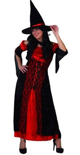 Atosa - Disfraz de bruja para mujer, talla M (44 - 46) (8422259049319)