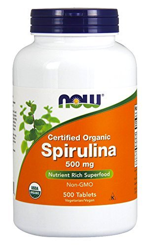 Now Foods, 100% Natural Spirulina, 500 mg, 500 Tablets