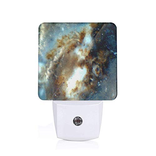 Led Night Light Hubble In Miniature (Galaxy Porcelain Jasper) Auto Senor Dusk to Dawn Night Light Plug in for Baby, Kids, Children's Room - Jasper Led