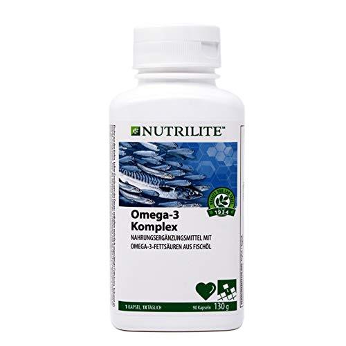 Omega-3 Komplex NUTRILITETM - Nahrungsergänzungsmittel aus Fischöl mit mehrfach ungesättigten Omega-3- Fettsäuren - 90 Kapseln / 130 g - Amway - (Art.-Nr.: 4298)