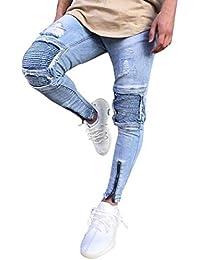 84bcc5e83d1e HaiDean Pantaloni Maschili Jeans Uomo Slim Fit Vintage Jeans Casual Moderna  Jeans Hiphop Streetwear Pantaloni Jeans