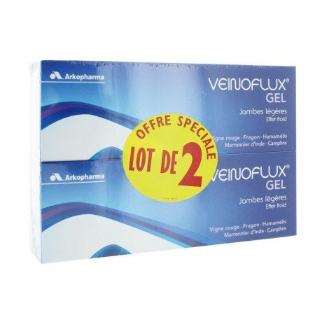 Arkopharma Veinoflux Gel Effet Froid Lot de 2 x 150 ml