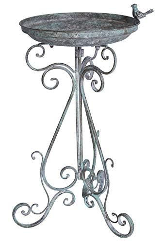 Vogeltranke Vintage Schale Metallschale Vogelbad Landhausstil Garten Palazzo Exklusiv