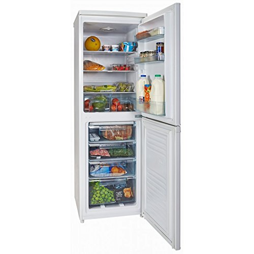 White Knight FF225H 223L 50/50 Freestanding Combi Fridge Freezer - White