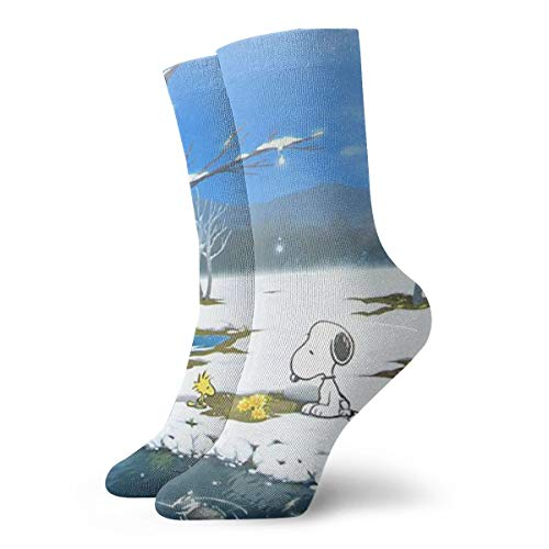 DailiH Unisex Casual Baumwollsocken, Snoopy 2 Casual Crew Socken Athletic Sports Funny Socks Kleid Socken High Ankle 11.8 Zoll -