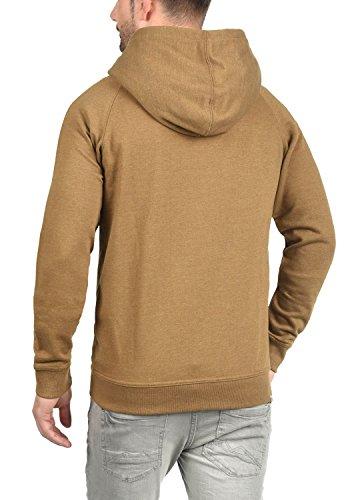 BLEND Speedy Herren Sweatjacke Zip-Hoodie mit Kapuze und optionalem Teddy-Futter aus einer hochwertigen Baumwollmischung Meliert Dark Mustard (75116)