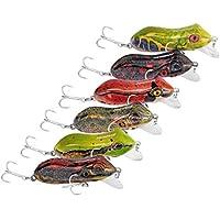 WEATLY Señuelos de Pesca de Trucha Vida Dura como señuelos de Rana Cebos Bajos Crank de plásticoBaits (Size : 6 Piece)