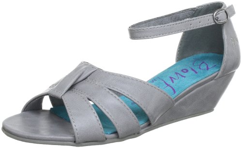 Blowfish Sable BF2876 SP13, Sandali con la zeppa donna Grigio (Grau (cool grey PU BFP17))