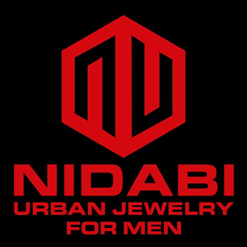 NIDABI - WaveMan - Boucles d'oreilles - Clous Homme - 12 mm Noir