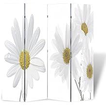 Biombo impresión de la flor 160 x 180